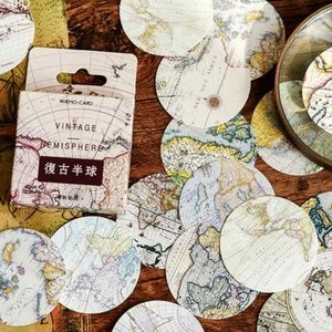 New 46 STICKERS Globe Map Travel for DIY Crafts